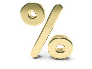 Golden percent % Sign