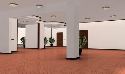 Salone con pavimento in cotto