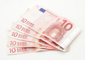 10 euros bank notes