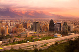 Panoramic view of Santiago, Chile, South America poster