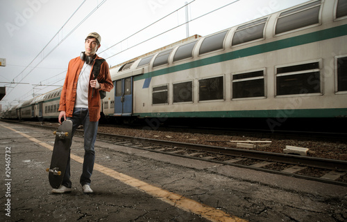 Student at the station