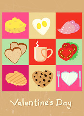 valentine concept food design
