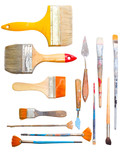 brushes and other art making tools