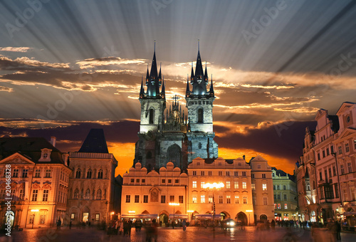 Tuinposter Praag The Old Town Square in Prague City