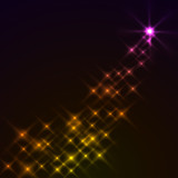 Abstract magic stars background. Eps10 file. poster