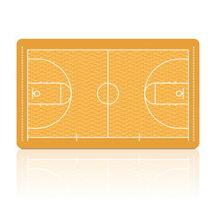 Basketball Court. Vector. Detailed portrayal of parquet floor.
