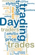 Day trading wordcloud