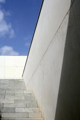 Moder architecture concrete stairs stairway
