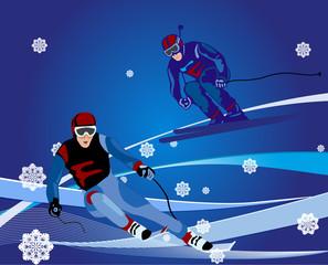 ski-cross illustration