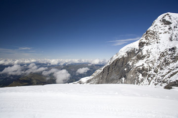Panorama at jungfraujoch in Switzerland.