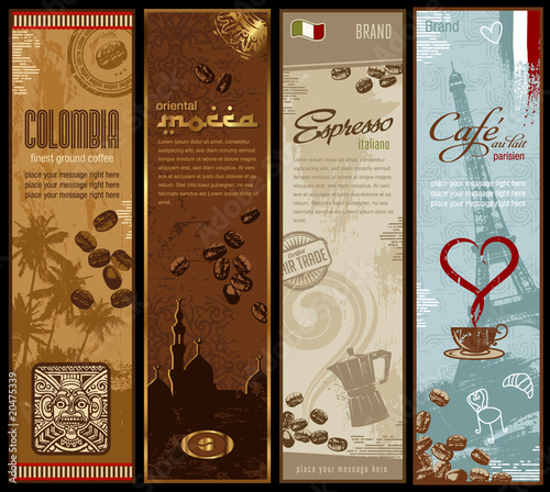 coffee banners (grunge is removable)