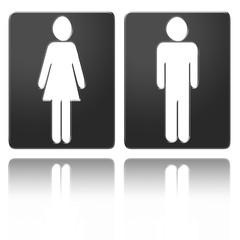 Trennung Herren und Damen WC