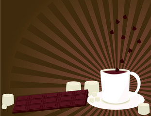 Hot chocolate background 1
