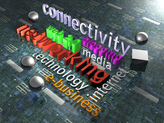 Illustration zum Thema New Media - Background - 3D