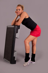 Fitness woman. Step
