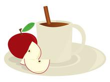 Sidra de Apple en taza