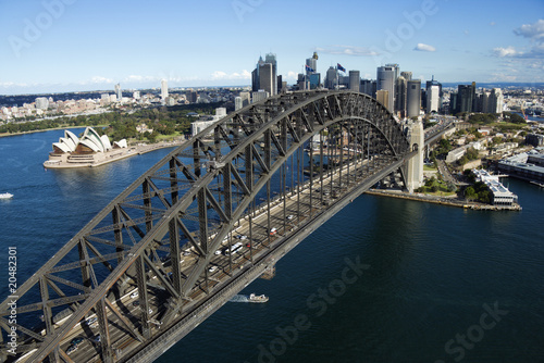 Aerial Shot of Syndney Harbor Bridge