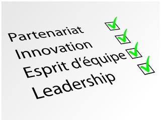 Clés du Succès (Business Management Innovation Travail d'équipe)