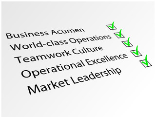 Key to Success (Business Teamwork Quality World Class Leadership