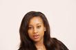Beautiful black teenager, face portrait