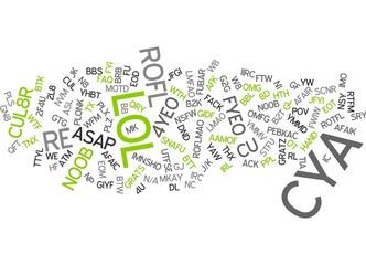 Internet Chat Slang / Language / chatspeak