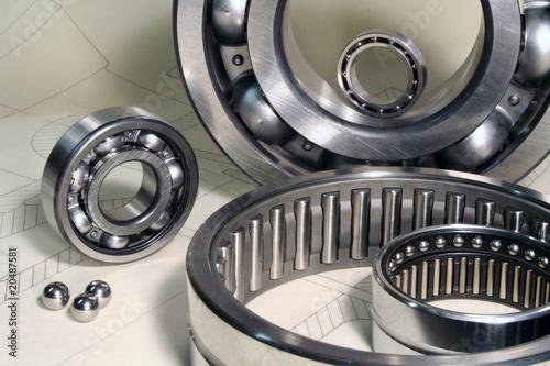 Leinwanddruck Bild Maschinenbau