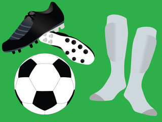 Soccer shoes and socks
