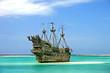 Leinwanddruck Bild - Caribbean Pirate Ship