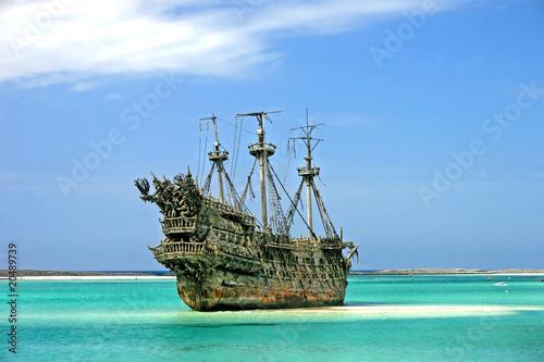 Leinwanddruck Bild Caribbean Pirate Ship