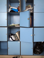 Lockers in high school