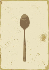 old teaspoon vintage sign