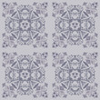 Seamless floral tile pattern