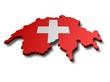 Landkarte Schweiz 3D