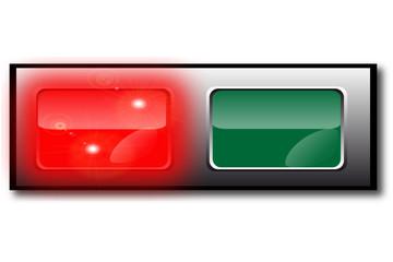 bouton rouge vert marche arrêt