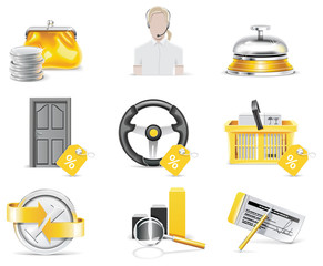 Vector online banking icon set. Part 4