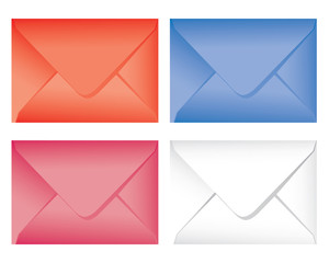 set colorful envelope