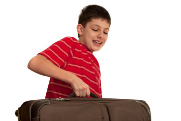 Carrying a heavy suitcase