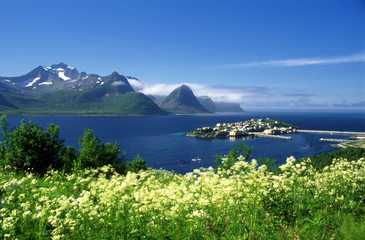 Beautiful island in north Norway