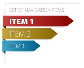 modern navigation items
