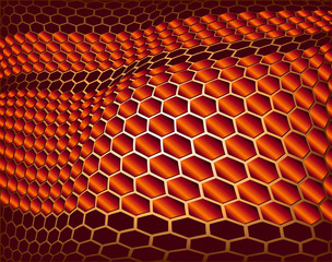 Vector Background. Concept of Honeycomb