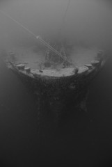 The bow of the world war two shipwreck The SS Thistlegorm