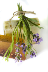 Lavender and handmade soap