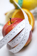 Fruits and measurement tape