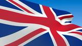 Seamless loop waving Great Britain flag poster