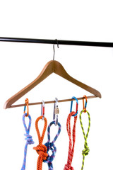 Climbing ropes on hanger