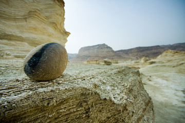 moment of old mountain,near Dead Sea, Israel