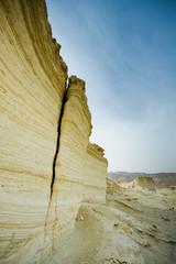 moment of old mountain,near Dead Sea, Israel