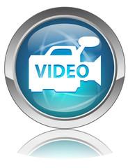 VIDEO Web Button (Play View Player Clip DVD Green Symbol Vector)