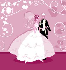 Wedding graphic wedding couple holding hands
