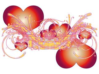 Abstrakt - Background - Floral - Herze